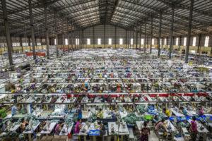Tekstilfabrik i Myanmar. Foto: Minzayar Oo