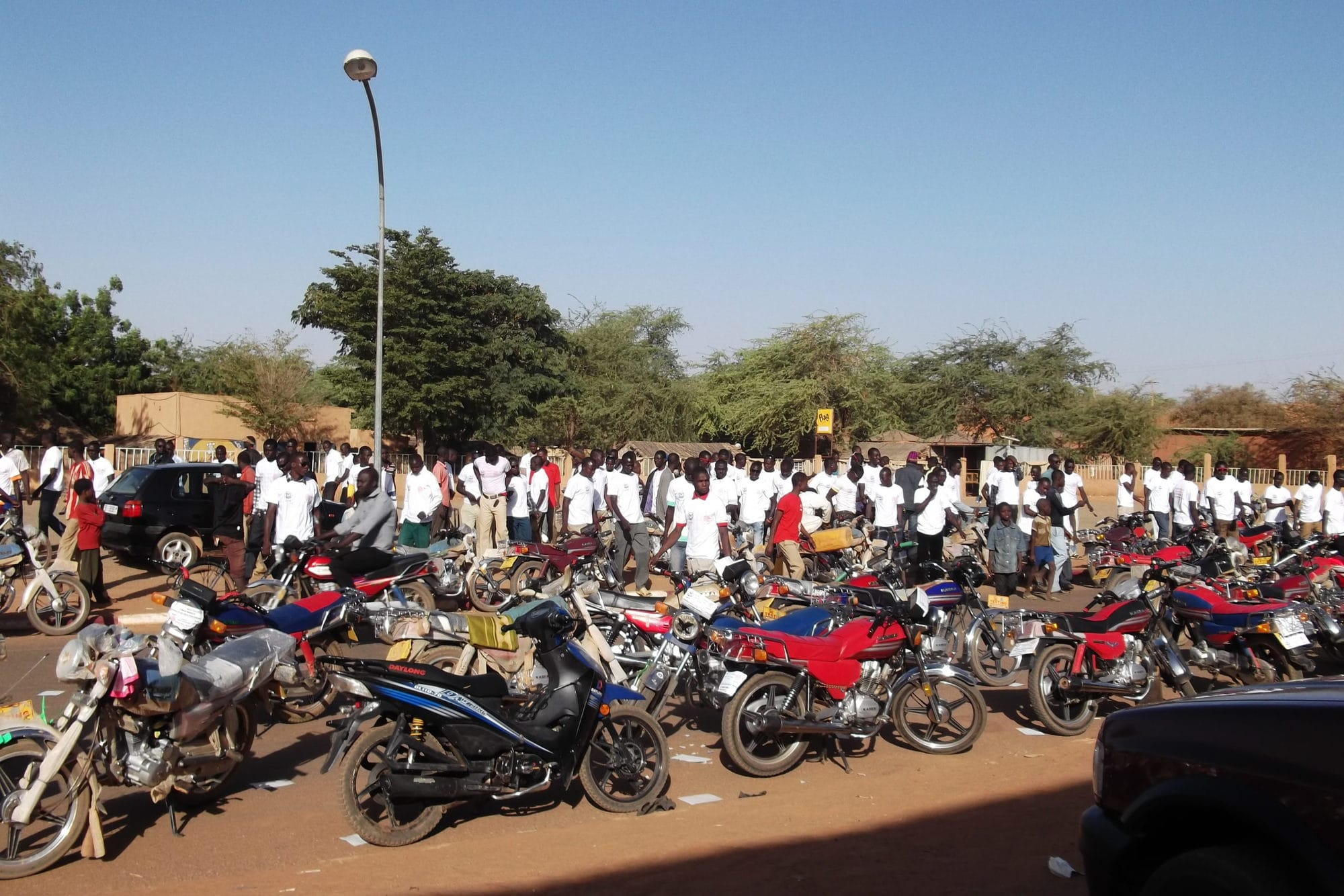 Motorbikers demanding access to social protection, Maradi, Niger 2013 (2)