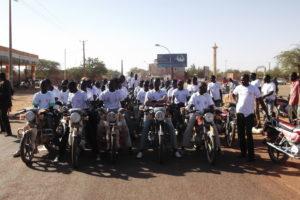 Motorbikers demanding access to social protection, Maradi, Niger 2013 (3)