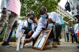 Healthcare workers protest in Nairobi, Kenyan – 09 Dec 2020